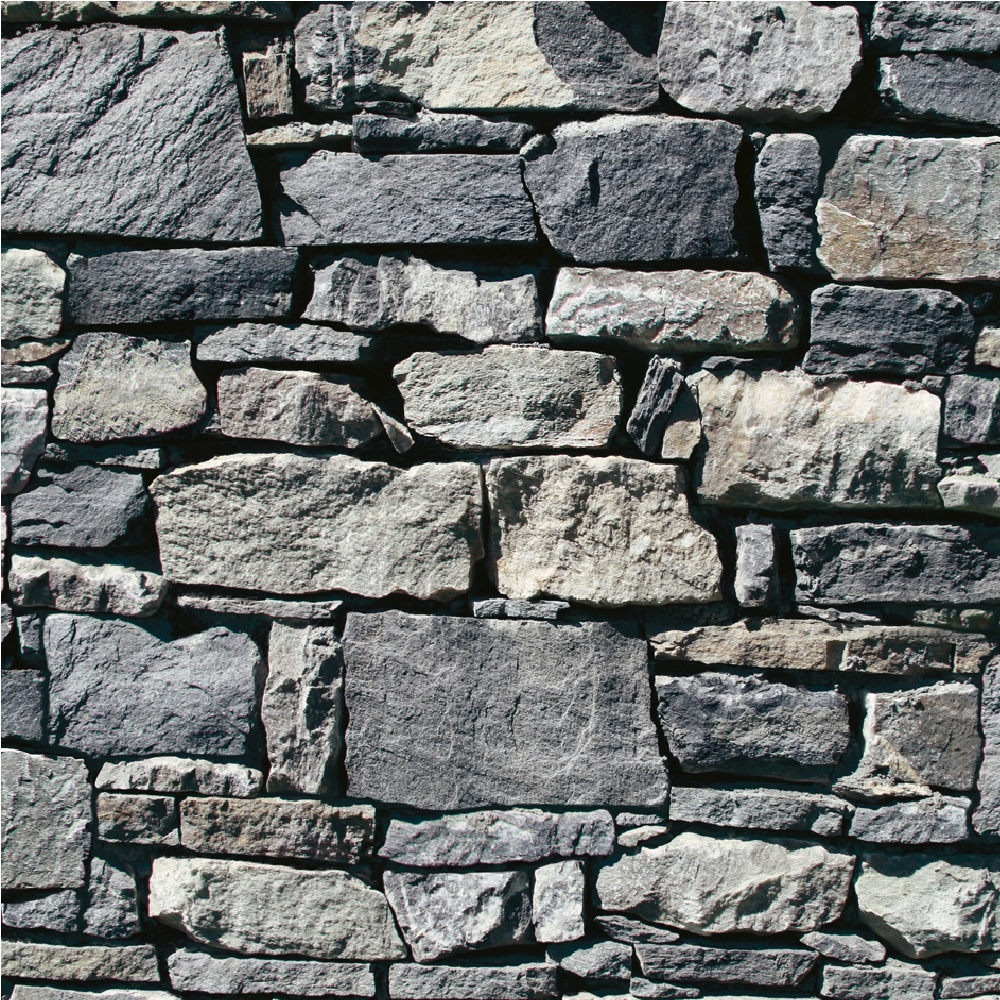 Muriva Dry Stone Wall Wallpaper J49409 - Grey | I Want ...