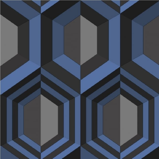 Muriva Hexagon Geometric Wallpaper J40701