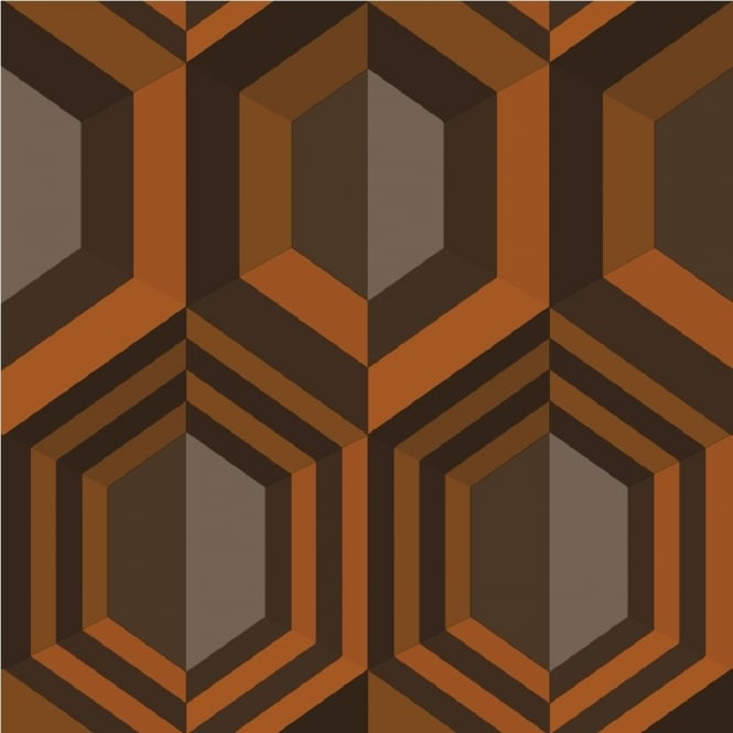 Muriva Hexagon Geometric Wallpaper J40705