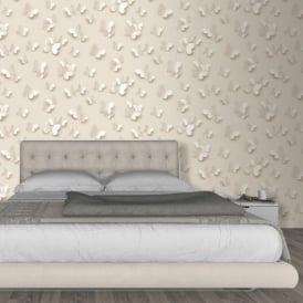 Muriva Just Like It Butterfly 3D Butterflies Pattern Motif Designer Washable Vinyl Wallpaper J65807