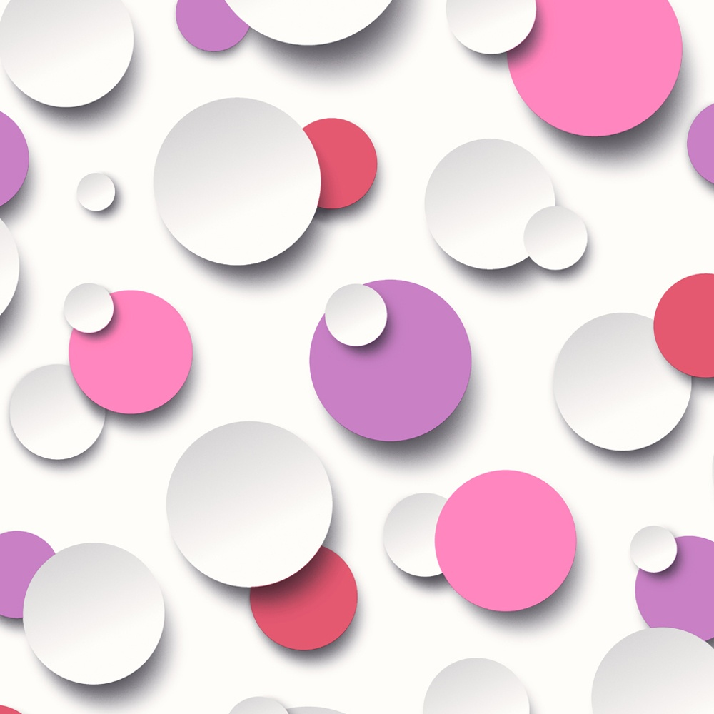 Muriva Just Like It Circles Polka Dot Spots Purple White Textured Designer Washable Vinyl Wallpaper J63406