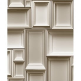 Muriva Just Like It Frames Picture Frame Motif Pattern Designer Washable Vinyl Wallpaper J66308