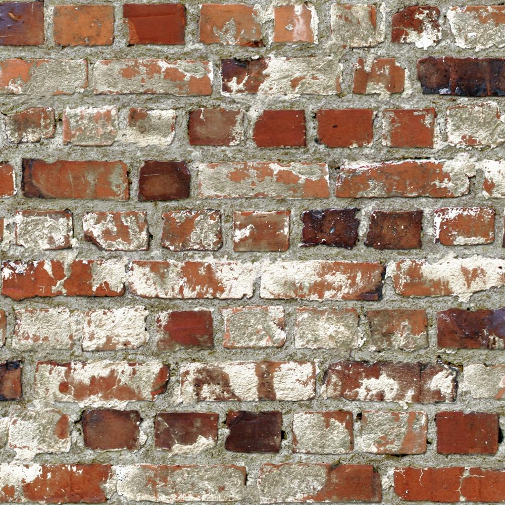 Vinyl for brick wall - Muriva Just Like It Loft Brick Faux Red Brick Wall Stone Effect Blown Vinyl Wallpaper J71408