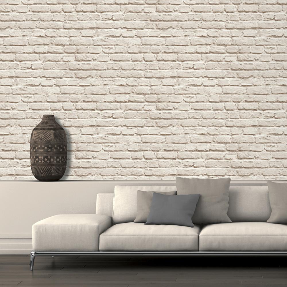 Muriva Just Like It Painted Brick Faux Stone Wall Mural Washable Vinyl  Wallpaper J66507