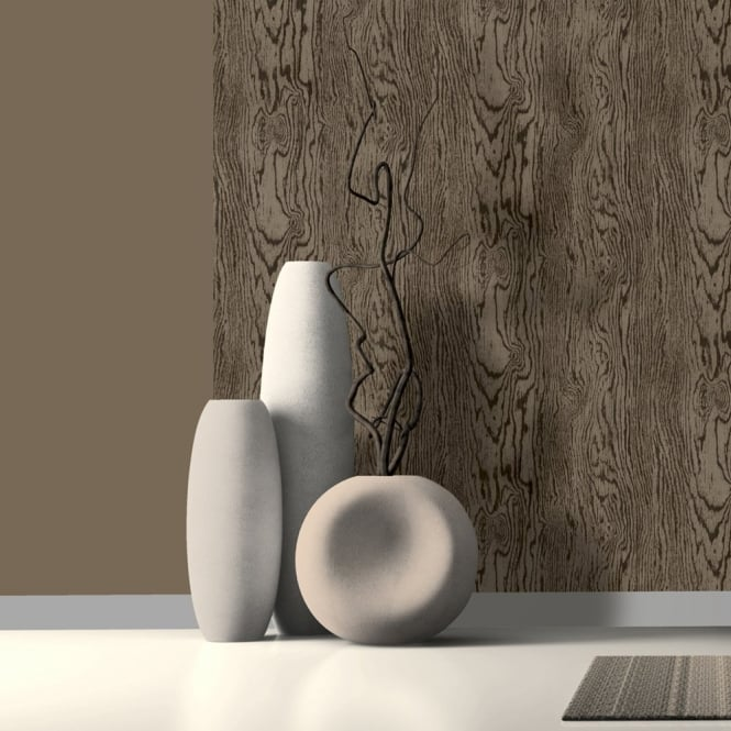 Muriva Just Like It Wood Grain Faux Wooden Bark Effect Textured Vinyl Wallpaper J65008