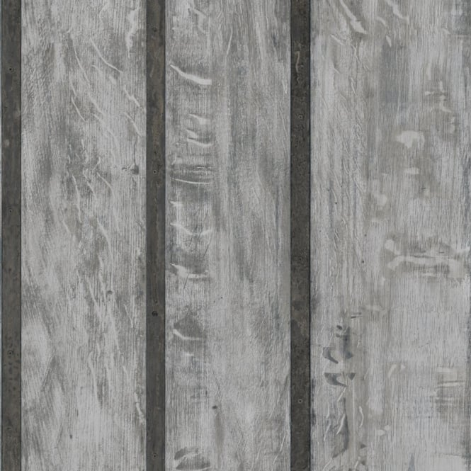 Muriva Just Like It Wood Wall Faux Wooden Panel Effect Textured Vinyl Wallpaper J68219