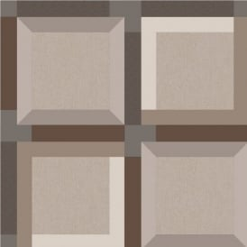 Muriva Kinetic 3D Squares Geometric Wallpaper J42408