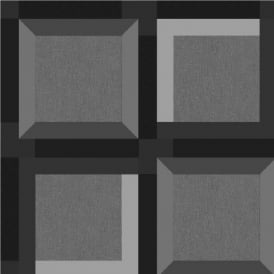Muriva Kinetic 3D Squares Geometric Wallpaper J42409