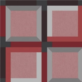 Muriva Kinetic 3D Squares Geometric Wallpaper J42410