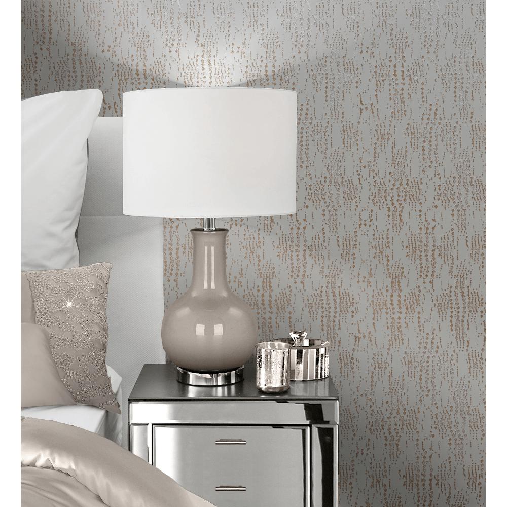 Muriva Kylie Minogue Cassia Textured Metallic Wallpaper Roll Rose Gold 701551