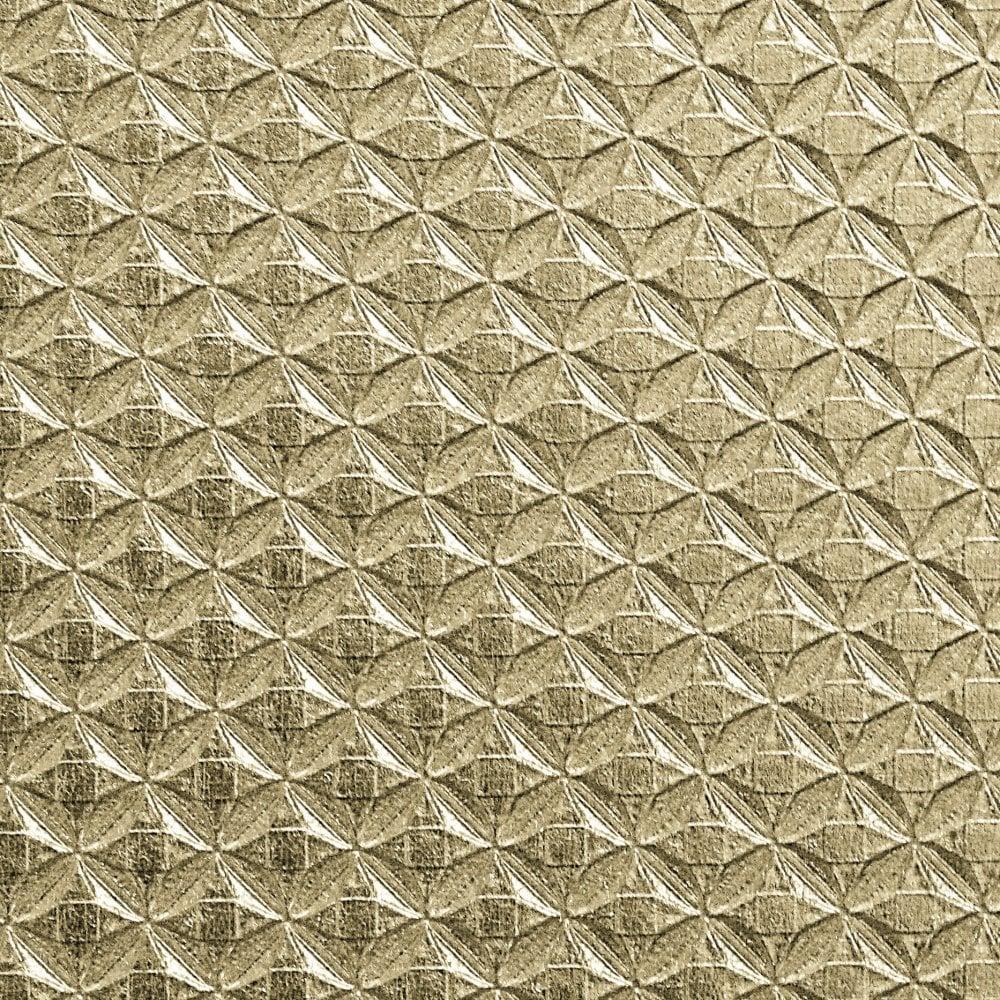 Kylie Minogue Diamond Jewel Metallic Textured Wallpaper Roll Gold 709005