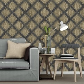 Muriva Lavelle Honeycomb Pattern Wallpaper Geometric Abstract Textured Vinyl L60002