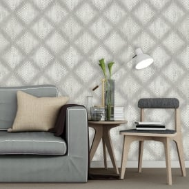 Muriva Lavelle Honeycomb Pattern Wallpaper Geometric Abstract Textured Vinyl L60007