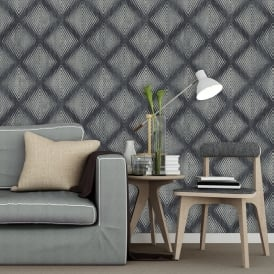 Muriva Lavelle Honeycomb Pattern Wallpaper Geometric Abstract Textured Vinyl L60009