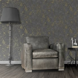 Muriva Marble Pattern Wallpaper Faux Effect Stone Metallic Gold Vinyl E85529