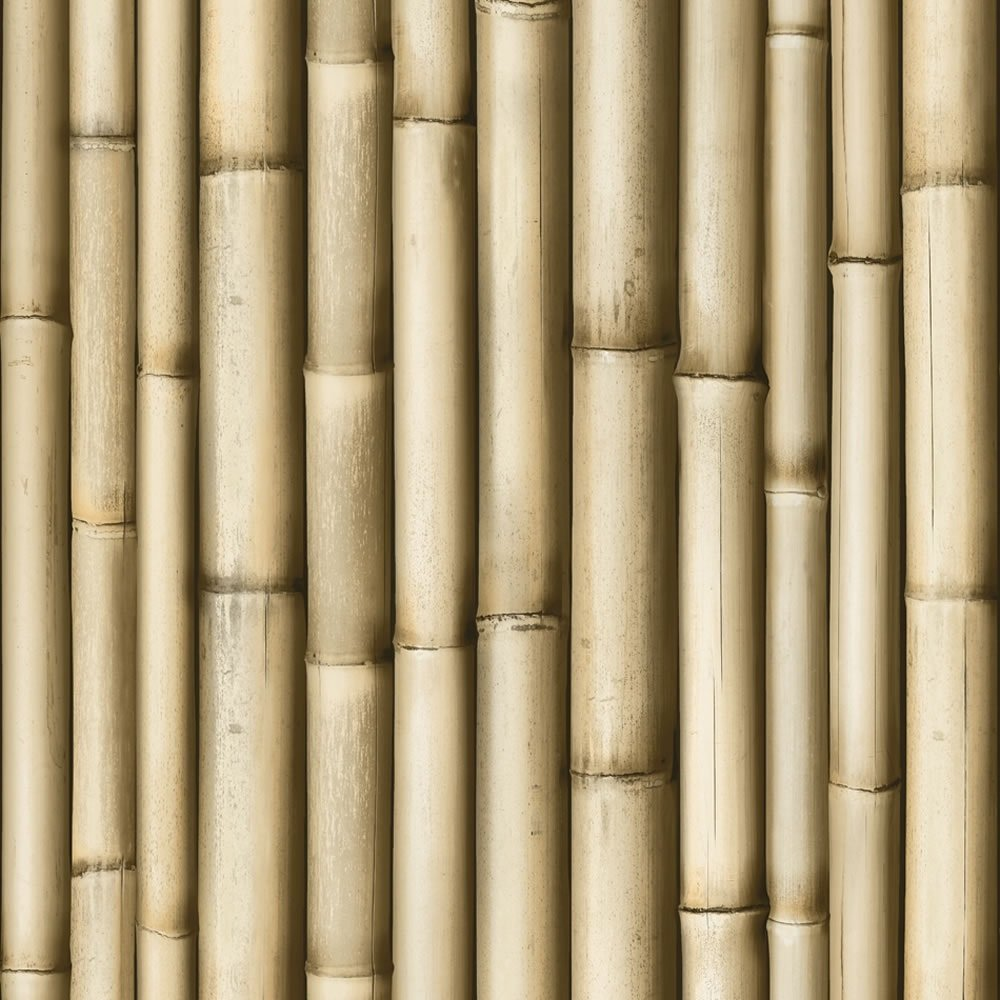 Muriva bluff bamboo brown panel faux wood effect 10m for Wallpaper sale uk