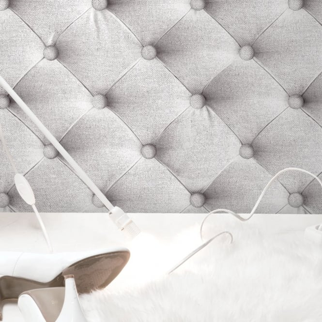 Muriva Bluff Diamond Padding Pattern Fabric Headboard