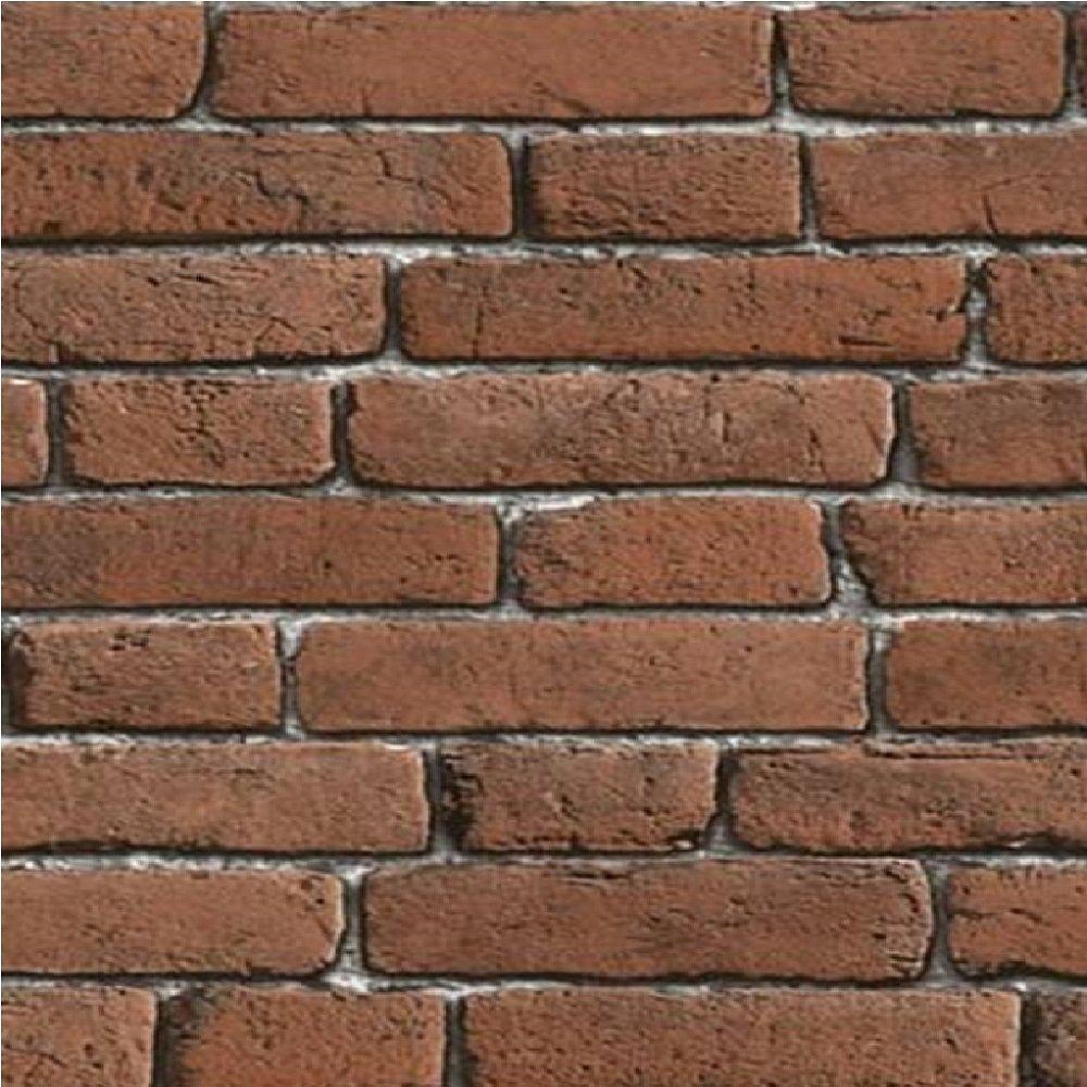 Muriva Bluff Red Brick Effect Embossed Blown Vinyl