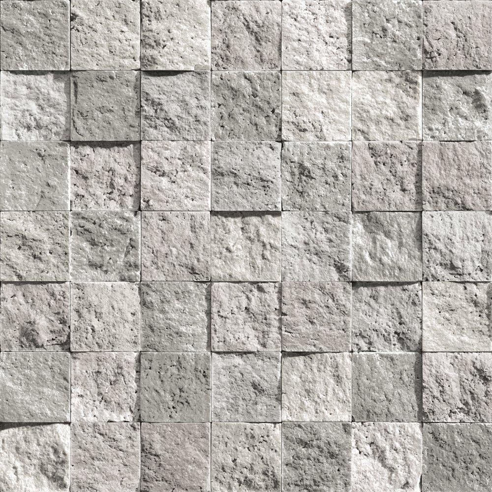 muriva bluff square tile pattern stone brick vinyl. Black Bedroom Furniture Sets. Home Design Ideas
