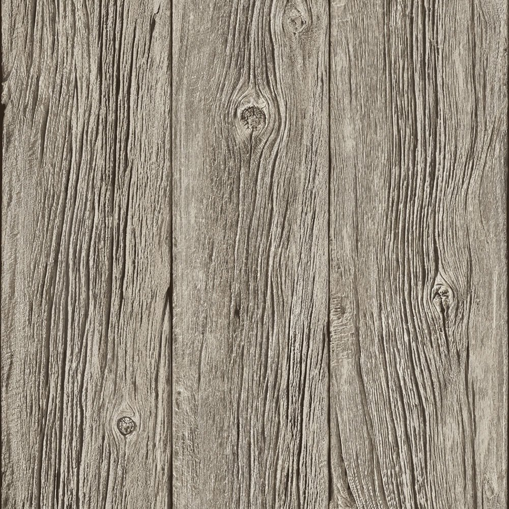 Muriva Bluff Wood Panel Faux Effect Wallpaper Grey J02408