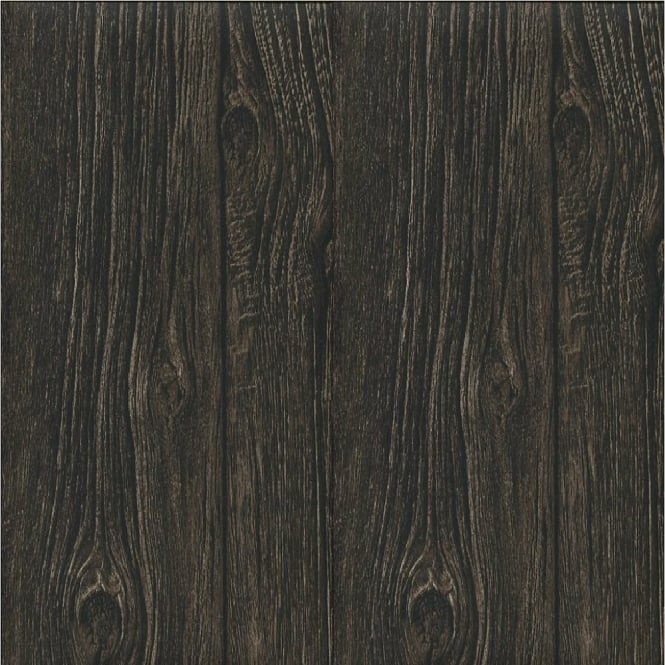 muriva bluff wood panel faux effect wallpaper dark brown