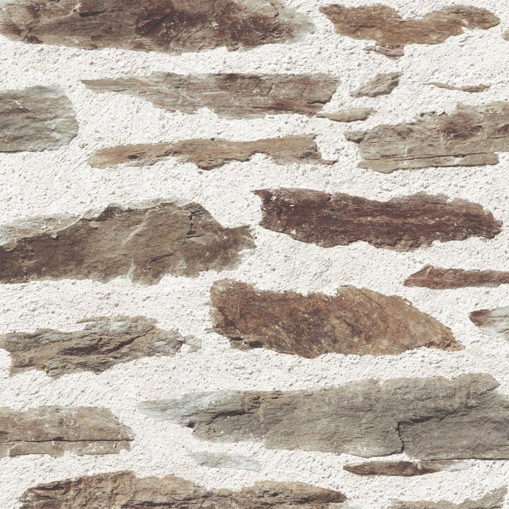 Muriva Brick Wall Pattern Rustic Faux Effect Stone