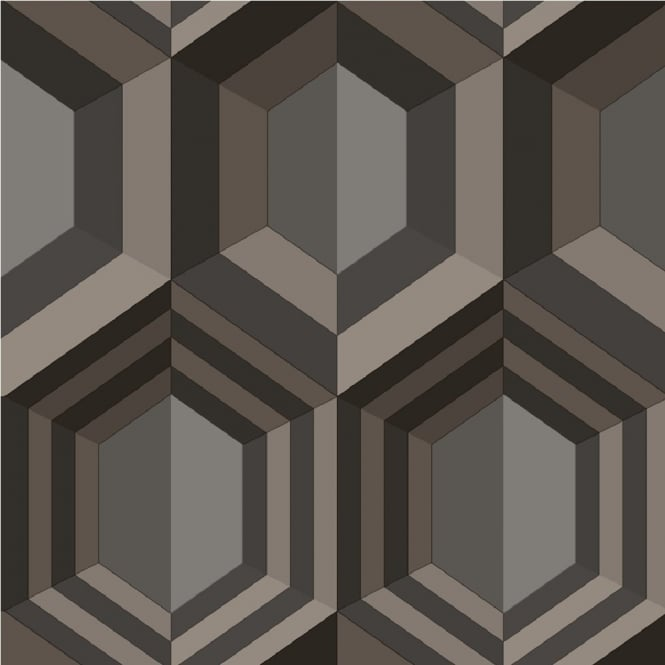 Muriva hexagon 3d effect canvas texture geometric for 3d effect wallpaper uk