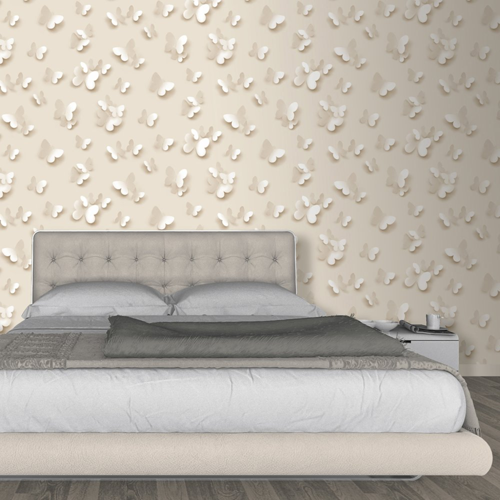 Muriva just like it butterfly 3d butterflies pattern wallpaper j65807 - Washable wallpaper ...