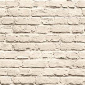 Muriva Just Like It Painted Brick Faux Stone Wall Mural Washable Vinyl Wallpaper J66507