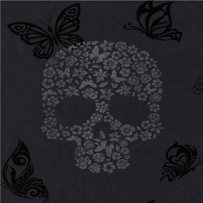 Muriva Skulls Glitter Wallpaper J21809