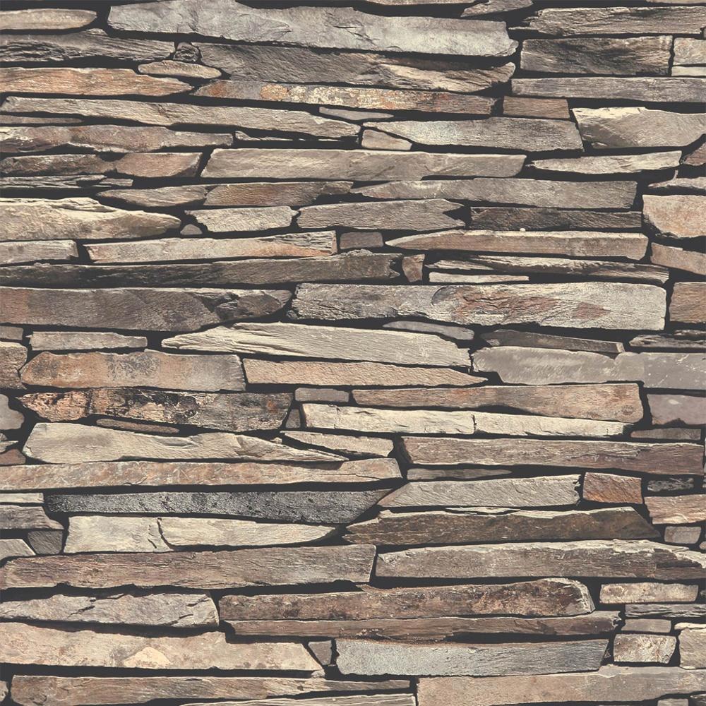 Muriva Slate Wall Pattern Faux Effect Stone Vinyl