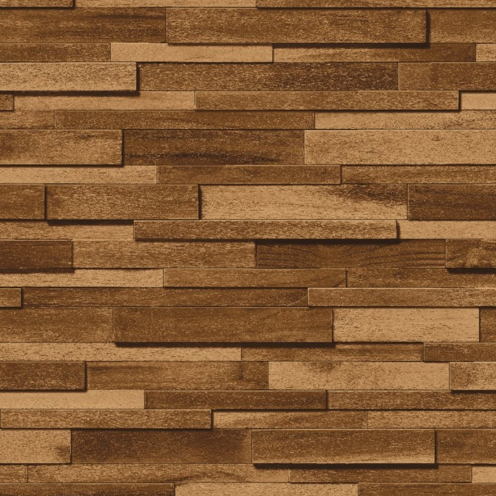 Muriva thin wood block pattern embossed vinyl wallpaper j45308 for Home wallpaper wood