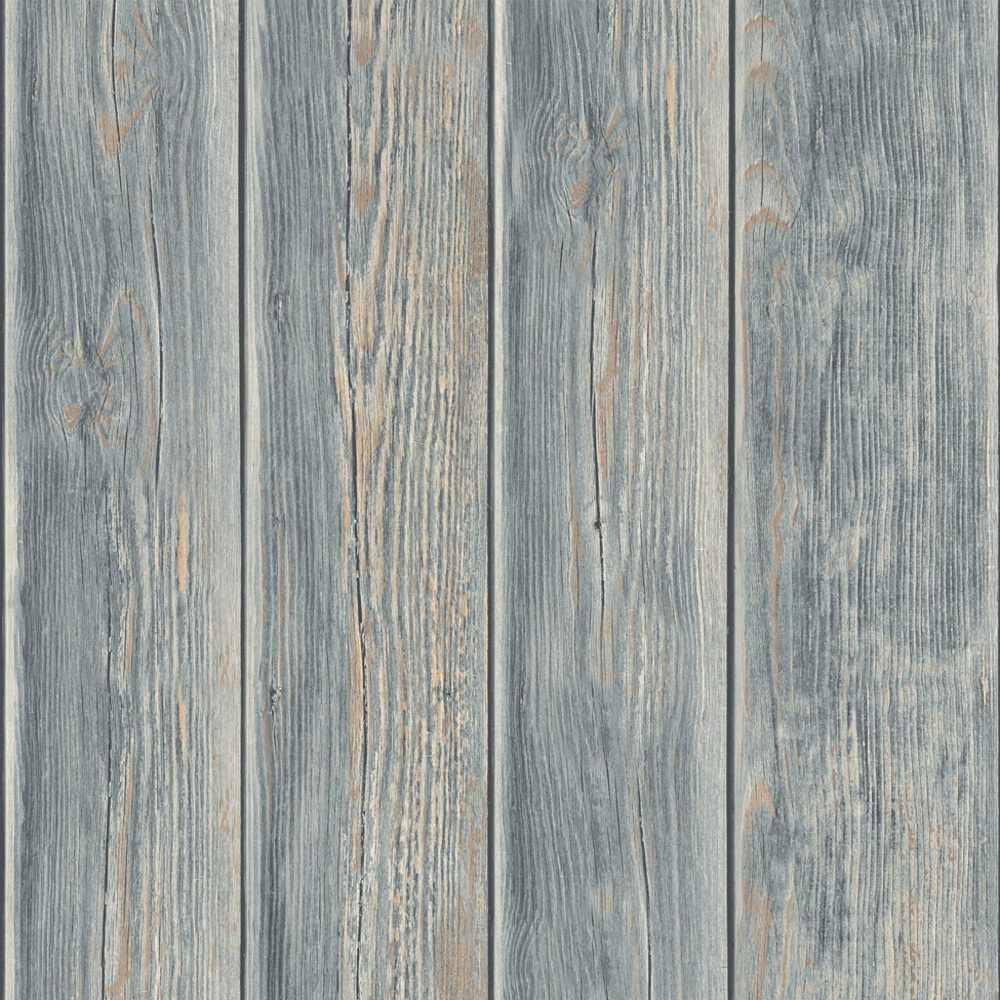 Muriva wood panel faux effect wooden beam mural wallpaper for Panel wallpaper