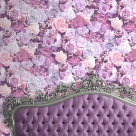 Muriva Roses Flower Pattern Floral Motif Photo Vinyl Wallpaper J97006