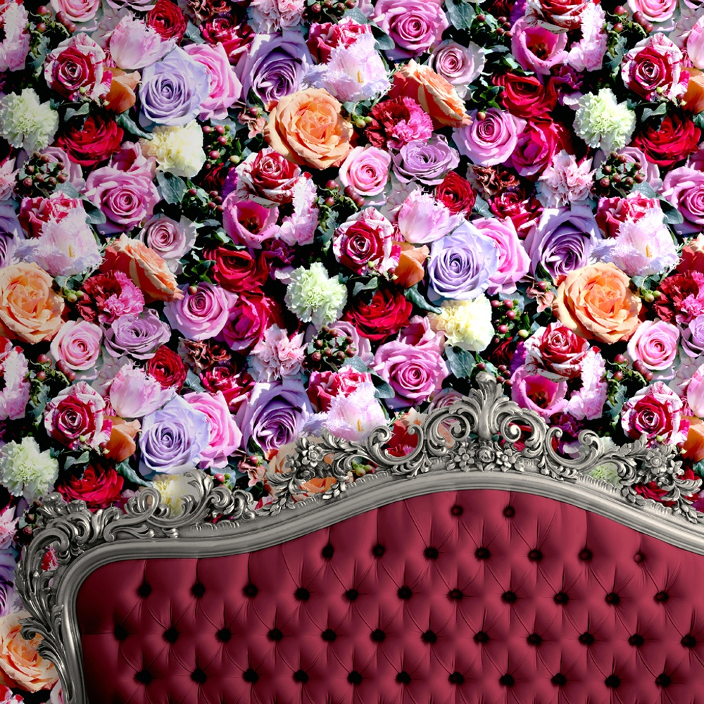 muriva roses flower pattern floral motif photo vinyl. Black Bedroom Furniture Sets. Home Design Ideas