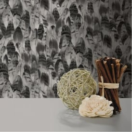 Muriva Soft & Natural Feathers Bird Feather Motif Pattern Vinyl Wallpaper J64109