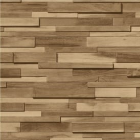 Muriva Thin Wood Blocks Wood Effect Wallpaper J45307