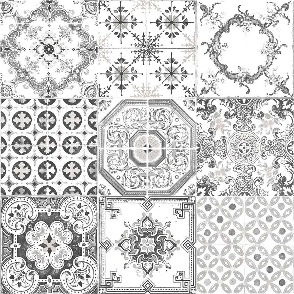 Kitchen Tiles Pattern muriva tile pattern motif kitchen bathroom vinyl wallpaper j95609