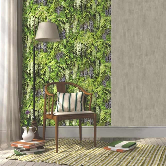 Muriva Wisteria Flowers Wallpaper Photographic Floral Pattern Realistic L15506