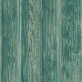 Muriva Wood Panel Faux Effect Wooden Beam Realistic Mural Wallpaper J86804