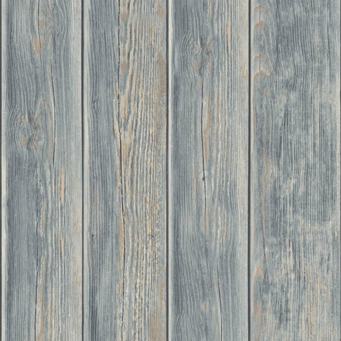 Muriva Wood Panel Faux Effect Wooden Beam Realistic Mural Wallpaper J86809