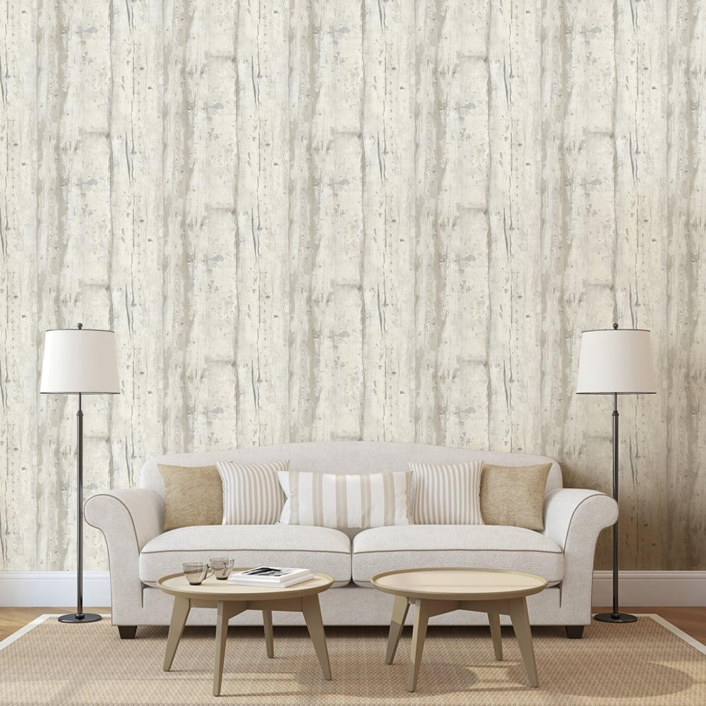 Muriva Wooden Board Pattern Wallpaper Faux Effect Wood Panel Modern ...