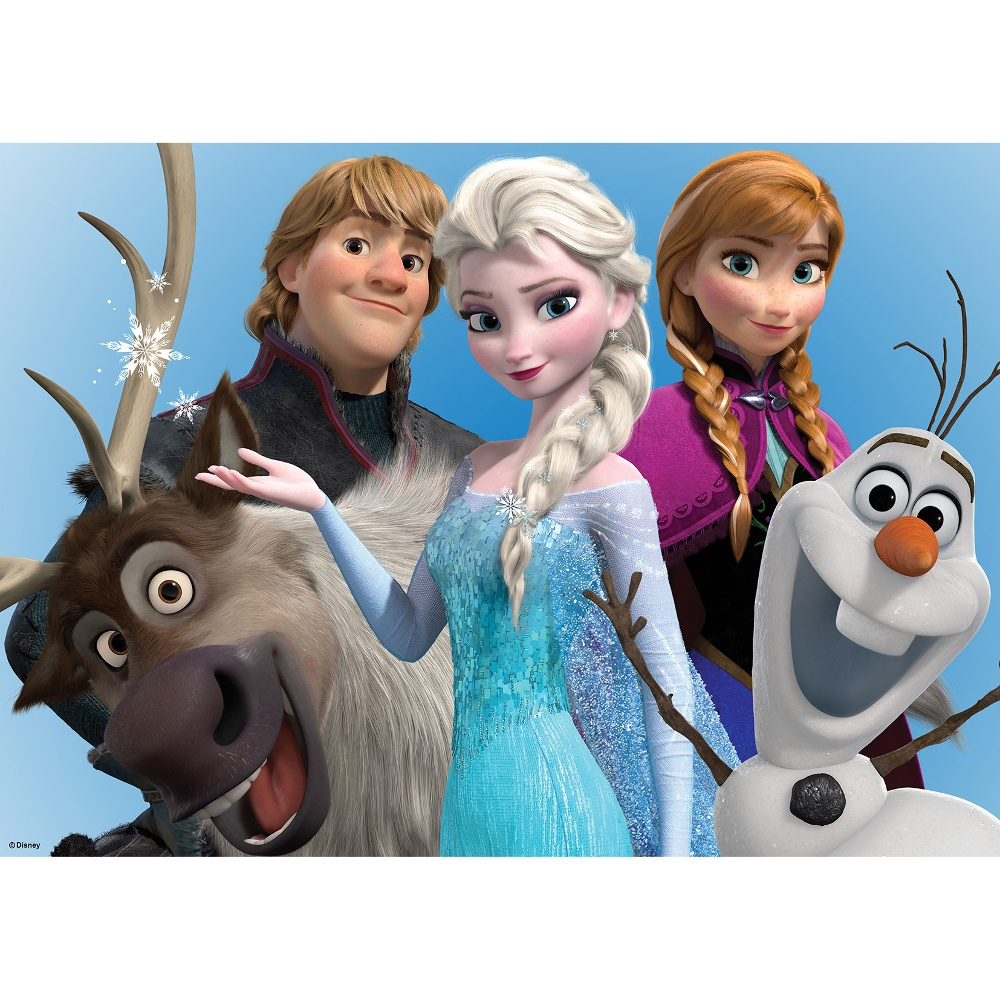 Official disney frozen elsa anna olaf printed canvas wall - Frozen anna and olaf ...