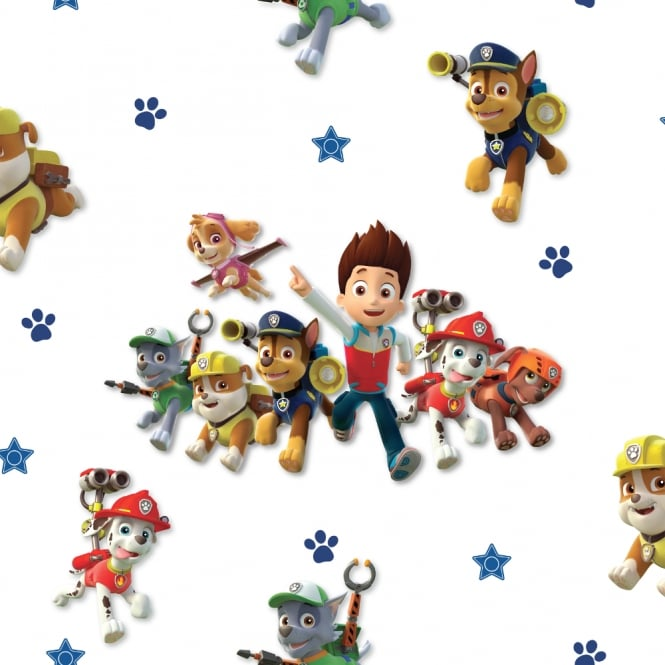 Debona Official Paw Patrol Childrens Wallpaper Kids Puppy Skye Chase WP4-PAW-PTL-12D