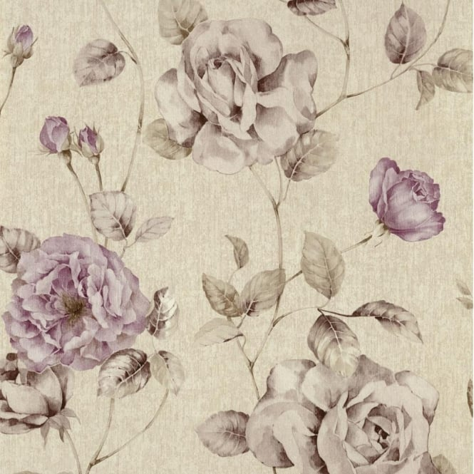 P&S International P+S Antique Floral Vintage Look Textured Flower Trail Wallpaper Roll 02297-20