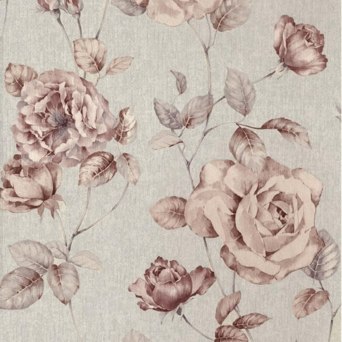 P&S International P+S Antique Floral Vintage Look Textured Flower Trail Wallpaper Roll 02297-50