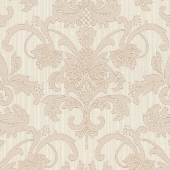 P&S International P&S Damask Pattern Floral Motif Glitter Embossed Textured Vinyl Wallpaper 18132-70