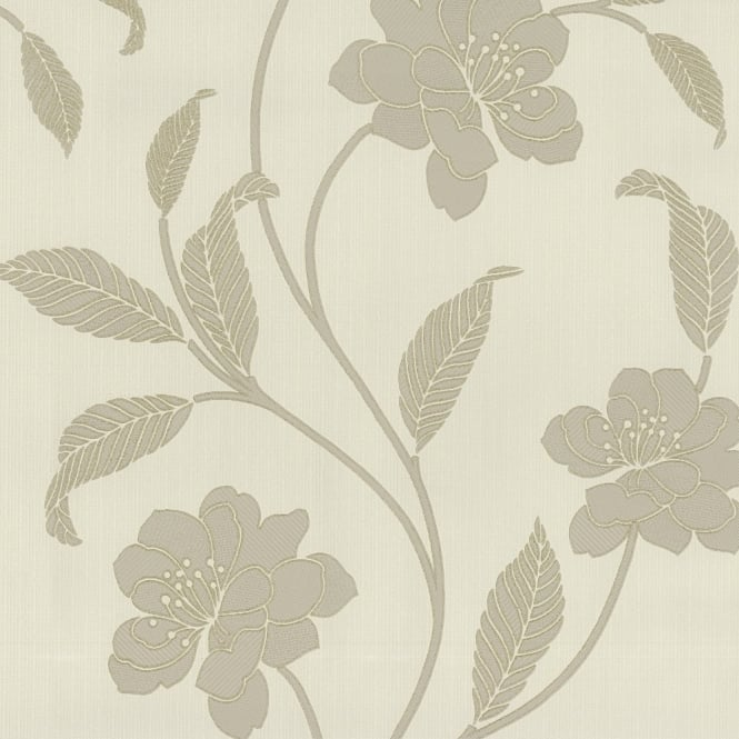 P&S International P&S Flower Pattern Floral Leaf Motif Glitter Textured Vinyl Wallpaper 18153-40
