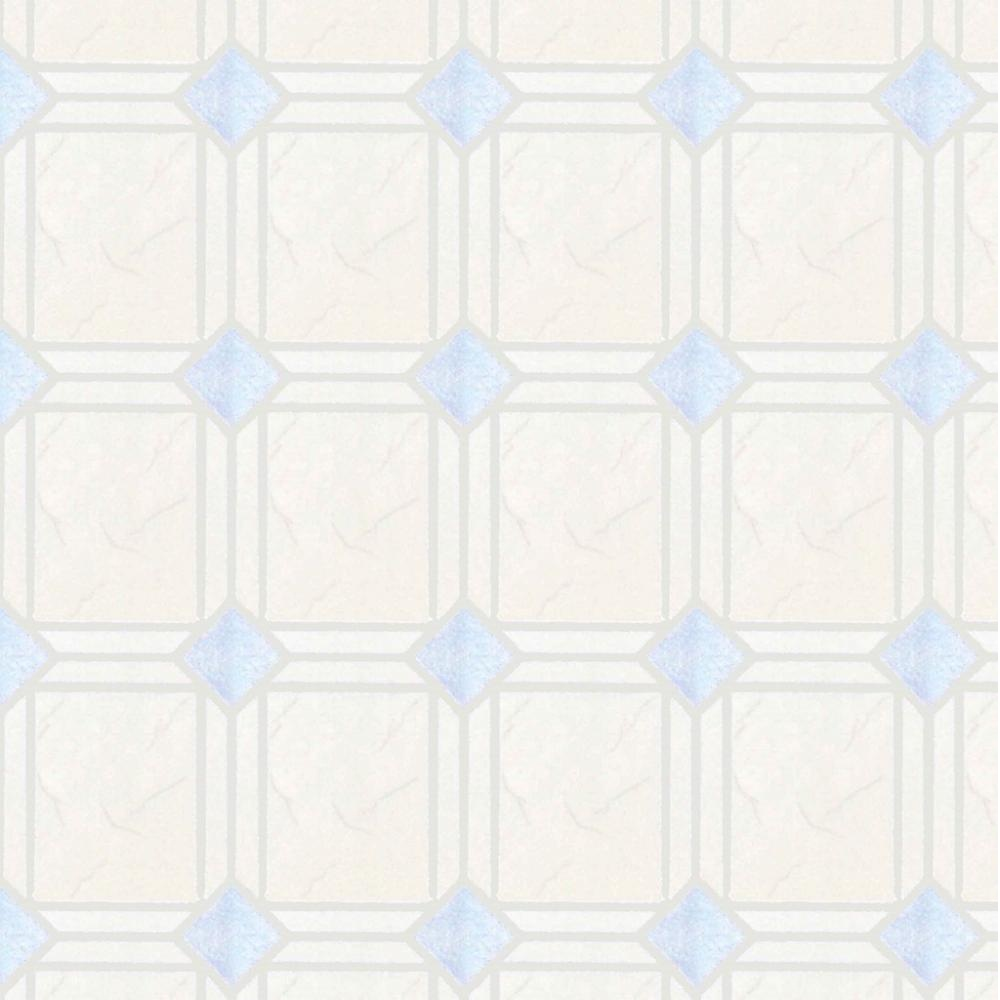 P s home sweet home diamond tile kitchen bathroom for Tile effect bathroom wallpaper