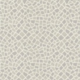 P+S Home Sweet Home Mosaic Tile Effect Embossed Vinyl Wallpaper 45026-20